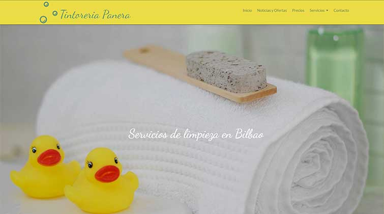 website tintoreria bilbao
